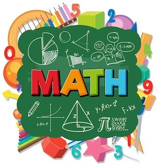 Mathe-symbol mit formel und tools
