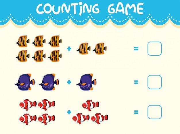 Mathe zählen spielvorlage