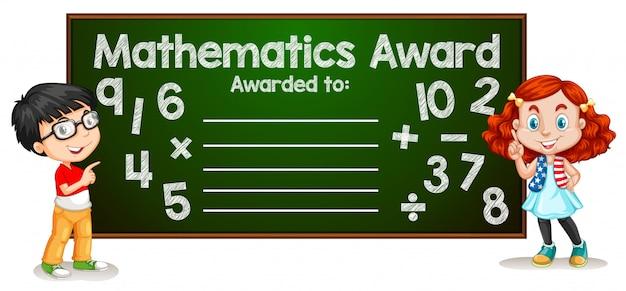 Mathematik award vorlage konzept