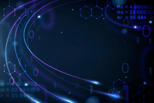 Mathematik bildung blauer hintergrund vektor disruptive bildung digitaler remix