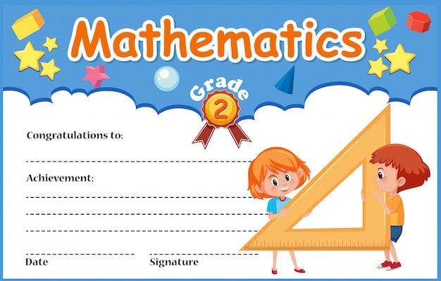 Mathematik diplom zertifikat vorlage