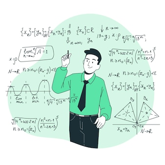 Mathematik-konzeptillustration
