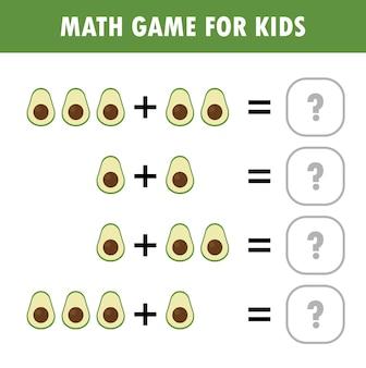 Mathematik-lernspiel für kinder, die das zählen zusätzlich arbeitsblatt für kinder lernen