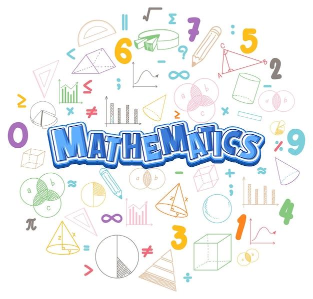 Mathematik-schriftartsymbol mit formel