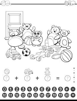 Mathematische aktivität zum färben