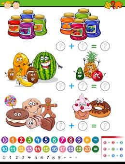 Mathematische spiel cartoon illustration