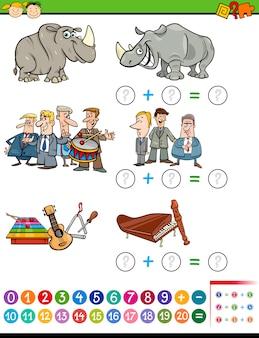 Mathematische vorschulaufgabe