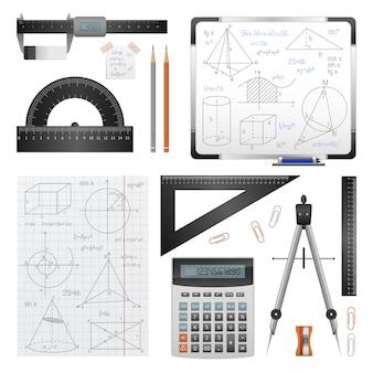 Mathematische wissenschaftsbilder eingestellt