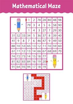 Mathematisches labyrinth.