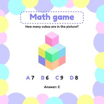 Mathematisches logikspiel für kinder im vorschul- und schulalter.