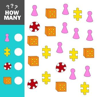 Mathematisches puzzlespiel zum erlernen von mathematikaufgaben für kinder im vorschulalter