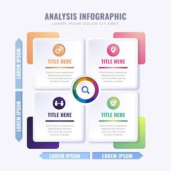 Matrix diagramm infografik