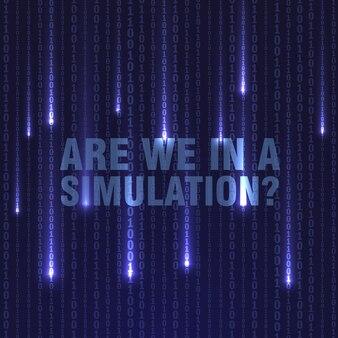 Matrix-simulation hintergrund