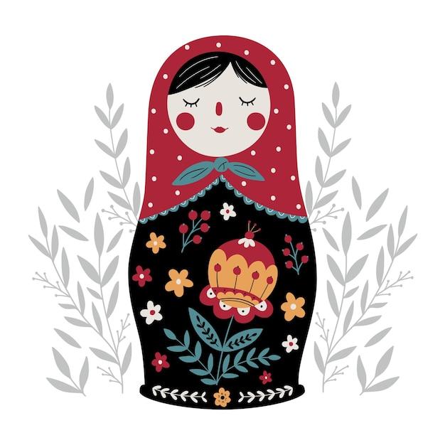 Matroschka russische nesting doll traditionelle russische kultur volksspielzeug babuschka puppe