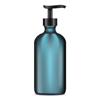 Matte glass lotion pumpflasche. kosmetischer behälter