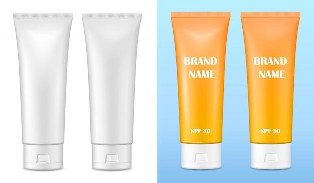 Matte und glänzende verpackung für kosmetika