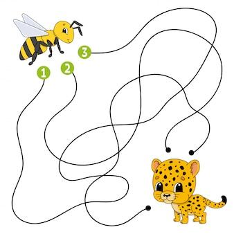 Matze. spiel für kinder. lustiges labyrinth. arbeitsblatt zur bildungsentwicklung.