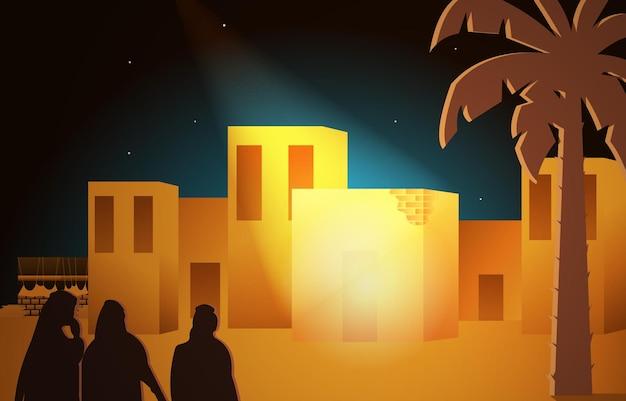 Maulid nabi prophet muhammad geburtstag mekka islam geschichte islamische illustration