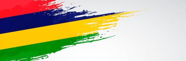 Mauritius banner pinsel