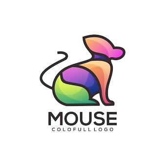Maus buchstabe logo farbverlauf abstrakt bunt