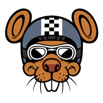 Maus kopf reiter maskottchen