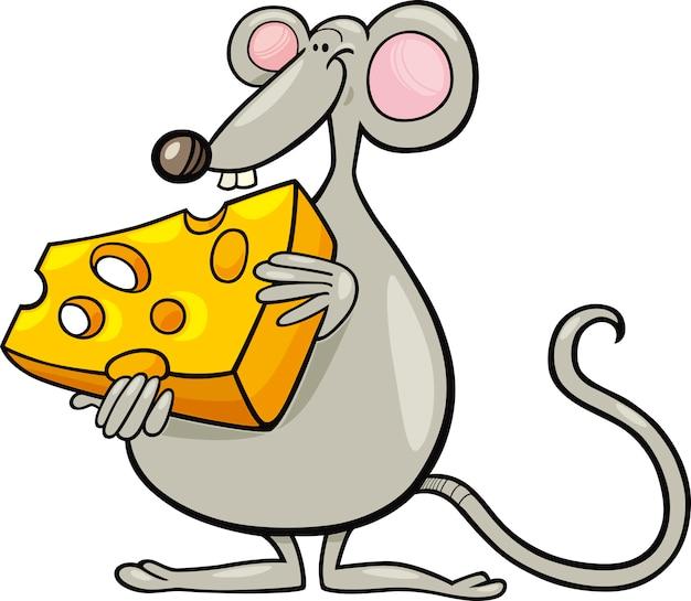 Maus mit käse cartoon