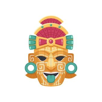 Maya-zivilisationsmaskenillustration