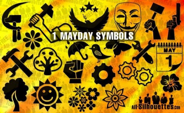 Mayday urlaub symbole vektor pack