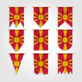 Mazedonien flagge in verschiedenen formen