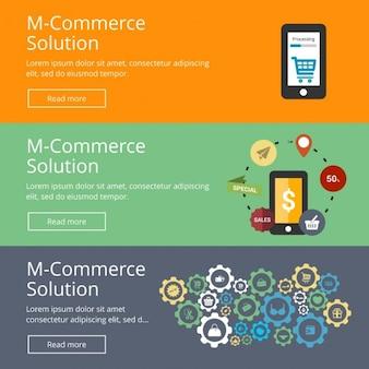 Mcommerce lösung web-banner