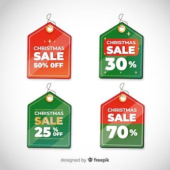 Mdern set weihnachtsverkauf etiketten