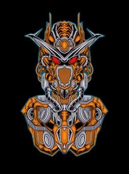Mecha gundam illustration