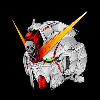 Mecha x-bone illustration