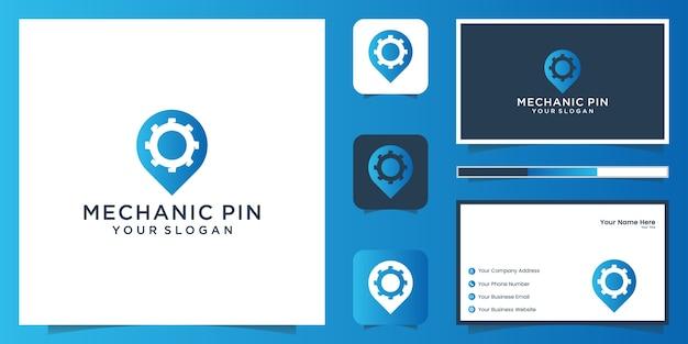 Mechanic navigation logo und visitenkarte