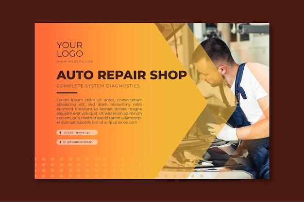 Mechaniker ad banner vorlage