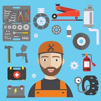 Mechaniker-elemente-sammlung