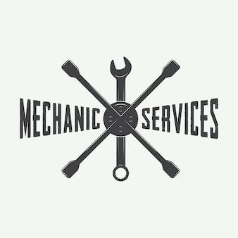 Mechaniker emblem und logo.