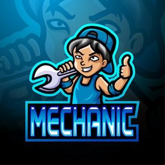 Mechaniker-esport-logo-maskottchen-design