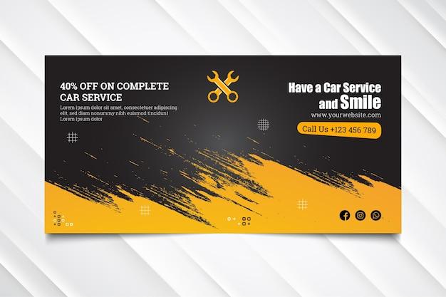 Mechaniker hub banner vorlage