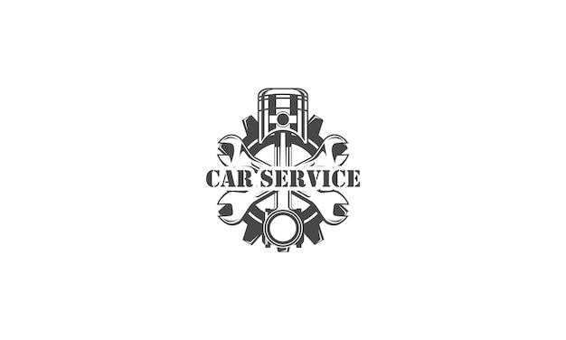 Mechaniker logo design services engineering reparatur