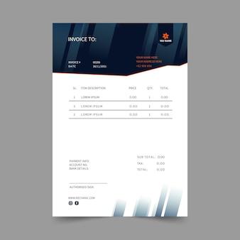 Mechaniker rechnungsvorlage Kostenlosen Vektoren