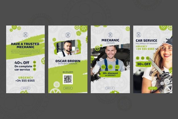 Mechaniker und service instagram geschichten vorlage