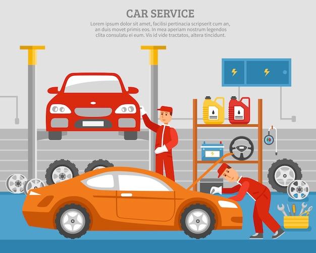 Mechanische dienstleistungen des autos