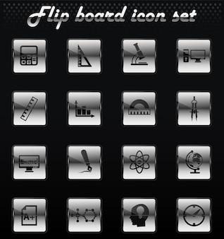 Mechanische ikonen des universitätsvektors für benutzeroberflächendesign