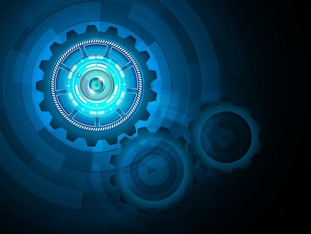 Mechanischer gang abstrakte technologie hintergrund