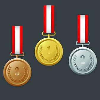 Medaille und rangliste