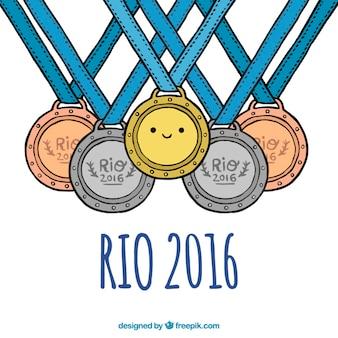 Medaillen für die olympischen spiele brasilien