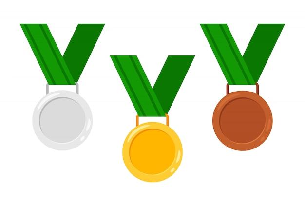 Medaillen mit bändern