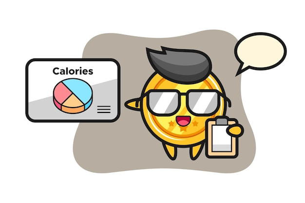 Medaillenmaskottchen als ernährungsberater