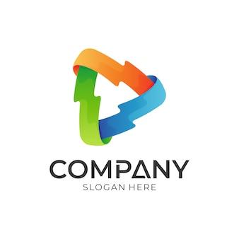 Media play-logo-vorlage